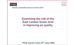 Examining the role of the Green Grid in London in reducing urban pollution and health impacts pdf