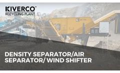Density Separator/Air Separator/ Windshifter Separates Material Based on its Density - Video