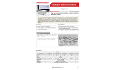Hamamatsu - Model C12137 Series - Radiation Detection Modules Brochure