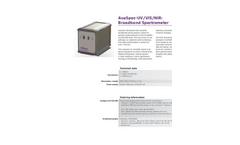 AvaSpec - Model UV/VIS/NIR - Versatile Broadband Spectrometer - Brochure