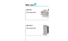 Gas Measuring Controller GMC 8022 - Brochure