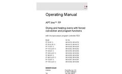 FP Series - Operating Manuals
