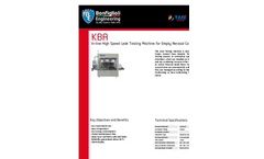 Model KBA - In-line High Speed Leak Testing Machine Brochure