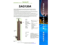 Max Flow - Model 50 Gpm - SAG120A Pro Series - Single Pass Flows UV System Brochure