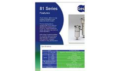 Filter Bag Housing 81 Series Brochure