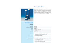 GAC - Activated Carbon Filter - Brochure