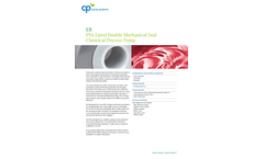 CP-Pumpen - Model EB - PFA Lined Double Mechanical Seal Chemical Process Pump Brochure