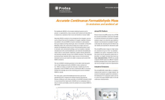 Accurate Formaldehyde Monitoring for Process, Emissions or Ambient