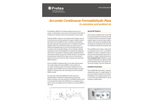 Measurement Solution for Accurate Continuous Formaldehyde Measurement Formaldehyde in Emissions and Ambient Air Applications - Datasheet