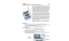 Portable calibrator for vibration transducers