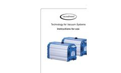 Vacuubrand - Model ME 1C - Chemistry Diaphragm Pumps  Brochure