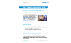 Simple, Flexible Data Acquisition in the Lab - Application Note