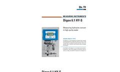 Digox 6.1 - Measurement of Dissolved Hydrazine in the PPB-Range Brochure