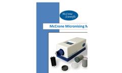McCrone Micronising Mill- Brochure
