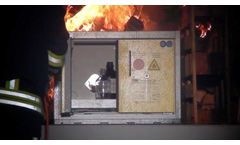 Type 90 Safety Cabinet in 90 Minute Fire Endurance Test - Video