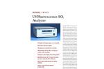 TAPI M100EU UV Flourescence SO2 Analyser (Trace Level) Brochure