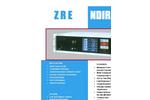 ZRE - NDIR - O2 Analyser for Single Infrared Light Beam Datasheet