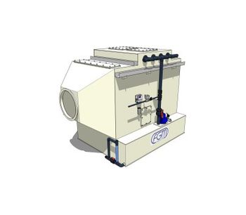 Model H - Single Stage Horizontal Air Cross-Flow Scrubber