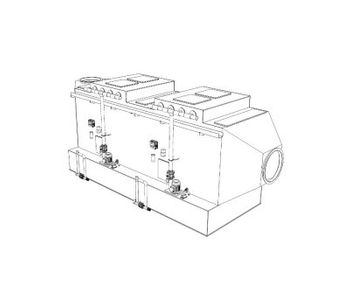 Model H2 - Double Stage Horizontal Cross-Flow Scrubber