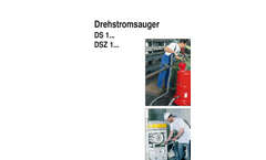 Type DS1 - Three-Phase Vacuum Cleaners - Brochure