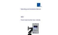 Schneider - Model iM50 - Fume Hood Monitors - Manual
