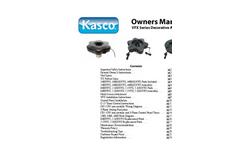 Kasco - Model 2400VFX - 1/2HP - 5HP Ultimate Aerating Fountains - Manual