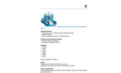 Model DPV 16-63 990 VW & PD 16-63 DN 65-600 - High Pressure Line Blind Valve Brochure
