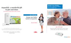 AcquaClick - Water Purifier - Brochure