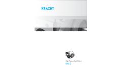 KRACHT - Model KM 2 - High Pressure Gear Motors - Datasheet