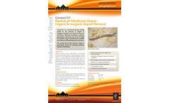 Genesol - Model 61 - Neutral pH Membrane Cleaner - Organic & Inorganic Deposit Removal - Datasheet