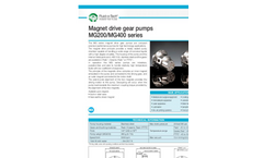 Model MG series - Magnet Drive Gear Pumps- Brochure