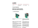 Axetris - Models MFC 2000 and MFC 2200 Series - Mass Flow Controller Modules - Datasheet