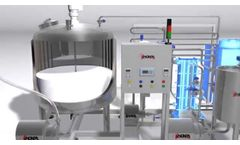 Inoxpa Dairy Product Manufacturing Miniplant with blender and reception unit - video