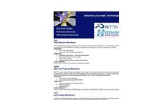 Brackish Water Reverse Osmosis Membrane Elements Brochure