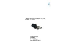 Model MZR -7208X1 - Micro Annular Gear Pump Manual