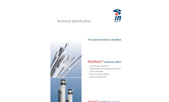 dizzer - Model P - Ultrafiltration Module Specifications Brochure