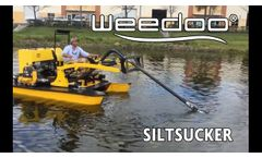 Weedoo Dredge Boat with the SiltSucker accessory attached - Video