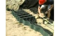 How to use Stretcher Frames & Stretcher Bars with the Geoweb Geocell Retaining Wall System - Video