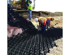 Geoweb railroad ballast reinforcement