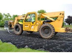 GeoTerra GTO construction mats provide turf protection