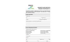 Geoweb Slope Protection Request for Project Evaluation - Brochure