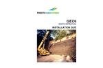 Geoweb Earth Retention Installation Guidelines