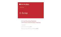 E-Scrap Recycling Standards Overview & Implementation Roadmap - White Paper