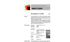 Model A 1,5 UNO - Oil Separator Brochure
