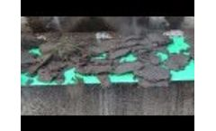 Dehydrated sludge outlet Video