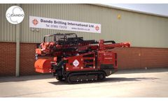 Dando Jackal 4000 Multipurpose Drilling Rig - Video