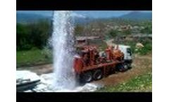 Watertec 24 Water Well Drilling Rig in Kurdistan, Iraq - Video
