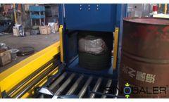 Automatic Drum Crusher Set, Automatic Metal Barrel Flattener System SINOBALER Video