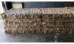 Automatic Baling Machine For Cardboard,Plastic bottles and Fibers SINOBALER Video