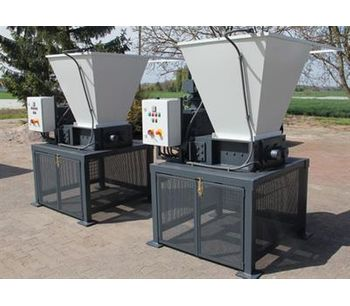 Shredding of wax and wax plates with Mercodor shredding systems - Waste and Recycling - Recycling Systems